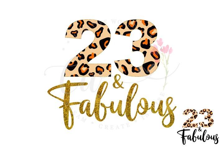 23 and Fabulous svg | 23rd Birthday svg | Leopard Birthday
