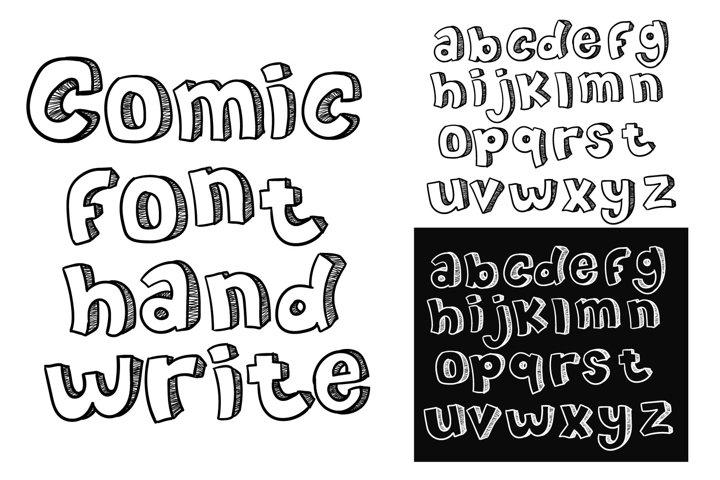 comic font hand write doodle