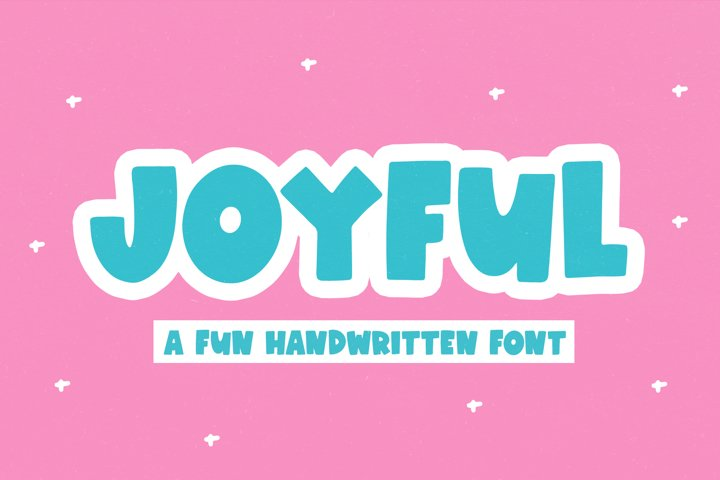 Joyful - A Fun Handwritten Font