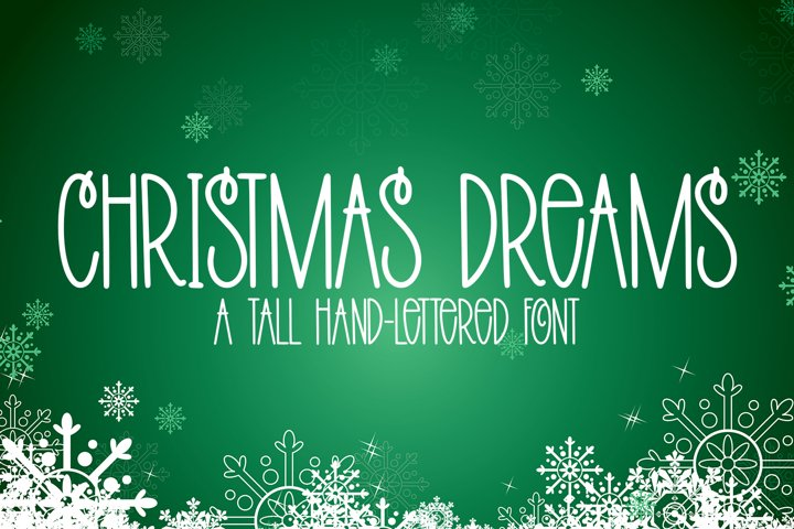 Christmas Dreams - A Tall Hand-Lettered Christmas Font