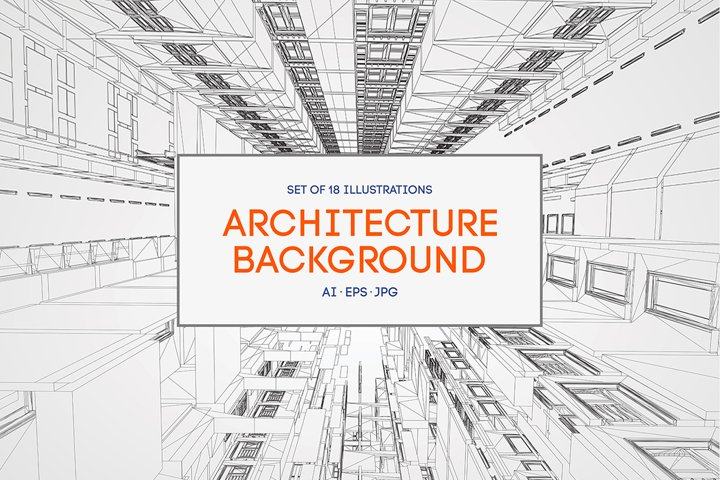 18 Architecture Backgrounds Vector