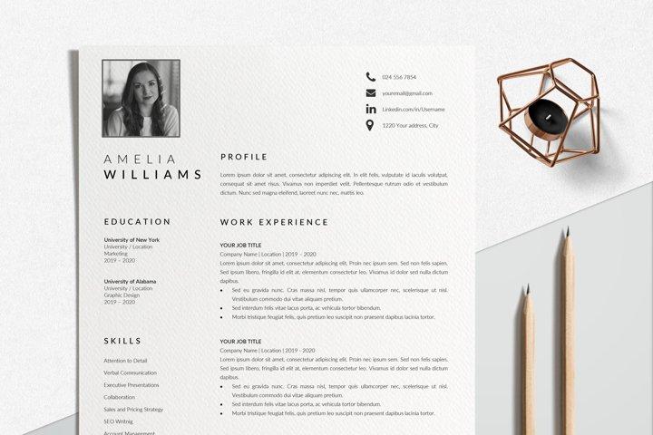 Modern Resume Template Word | CV Format Template Word