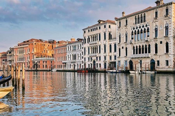 Palace in Venetian style on the Grand Canal. Italy, Venice