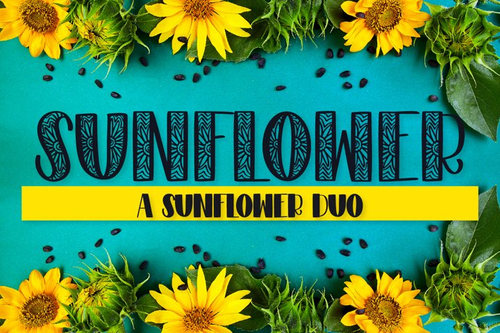 Sunflower - A Sunflower Duo Font