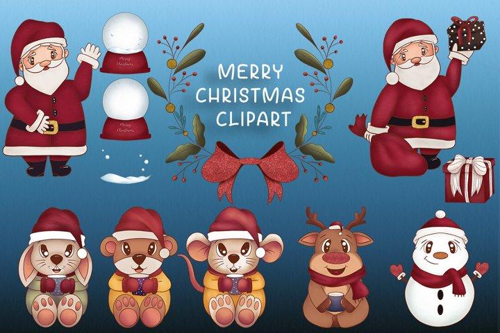 Christmas clipart Christmas Illustration Woodland graphics