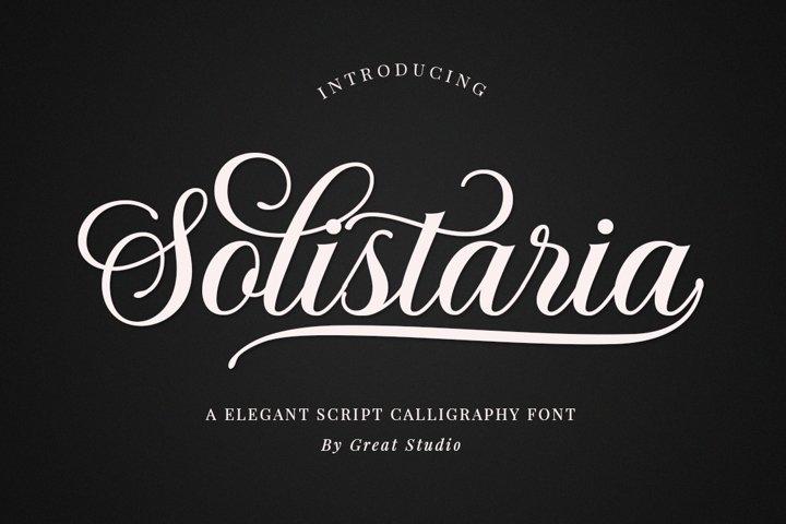 Solistaria-Elegant Calligraphy Font