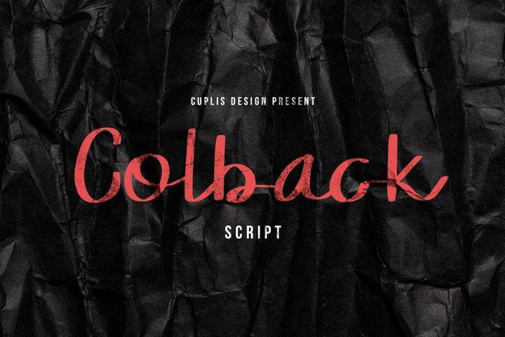 Colback Script Font