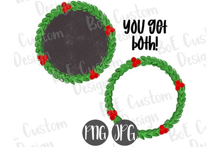 Christmas Wreath Frame Clipart