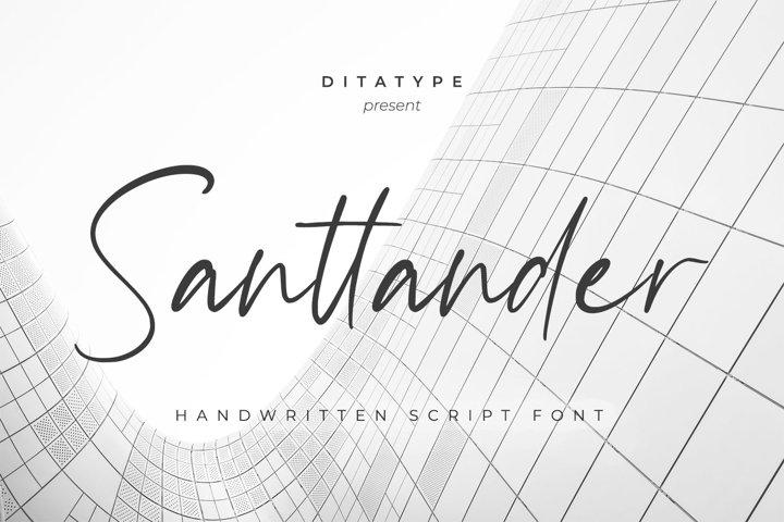 Santtander-Handwritten Font