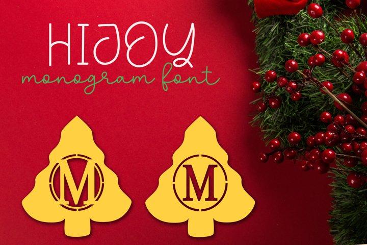 Hijoy | Monogram Font Christmas