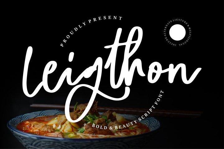 Leighton - Bold & Beauty Script Font