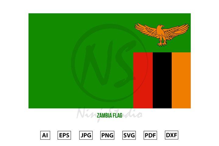 Zambia National Flag Vector