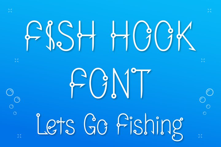 Fish Hook Font, Fishing Hunter Font