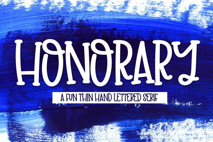 Honorary - A Clean Thin Serif Print