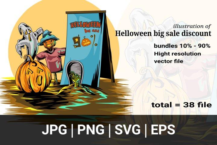 bundles illustration of Halloween big sale discount