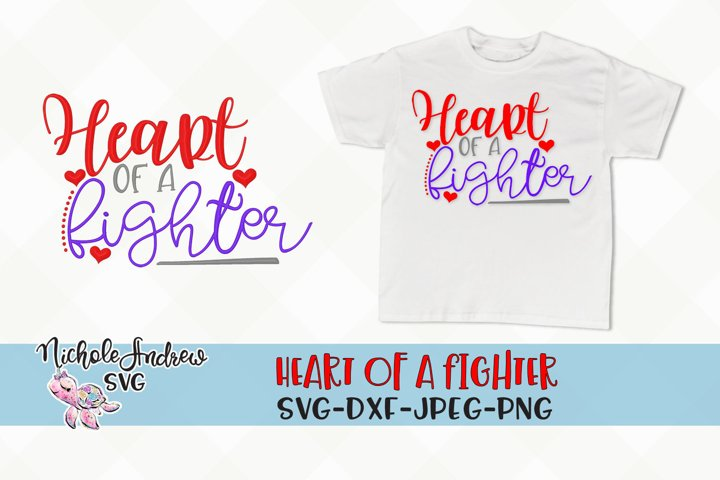 Heart of a Fighter, svg, CHD svg