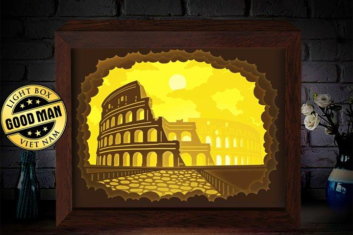 Colosseum 1 3D Paper Cutting Light Box - Shadow Box