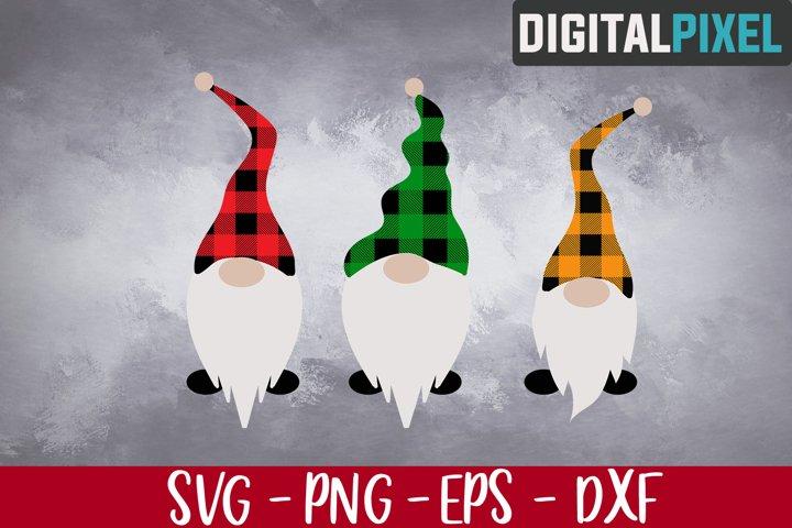 Gnomes Buffalo Plaid SVG PNG EPS, Christmas Gnomies Svg