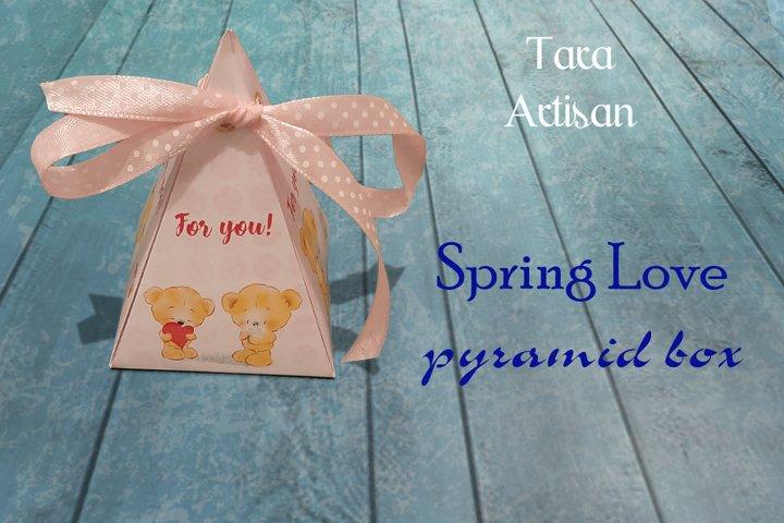 Printable SPRING LOVE Pyramid Box