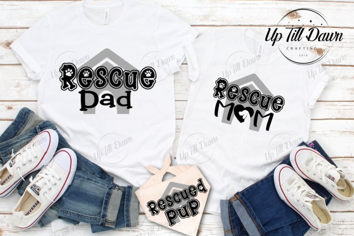 Rescue Mom and Dad SVG, Dog Adoption SVG