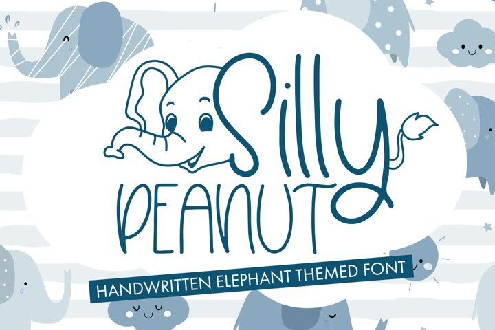 Silly Peanut - Handwritten Elephant Themed Font