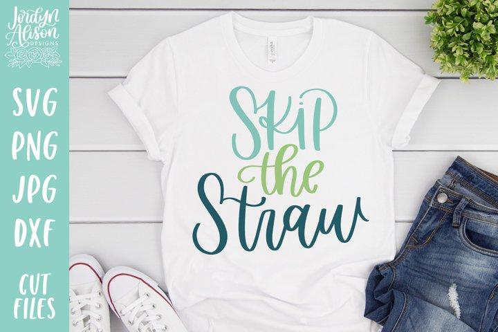 Skip the Straw, Vegan Environment SVG File