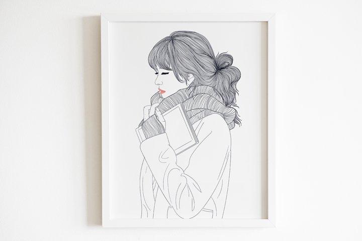 Art Print | Girls love to read books