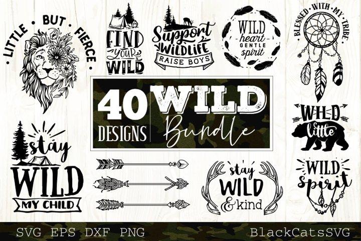 Wild and Boho SVG bundle 40 designs Wild SVG bundle