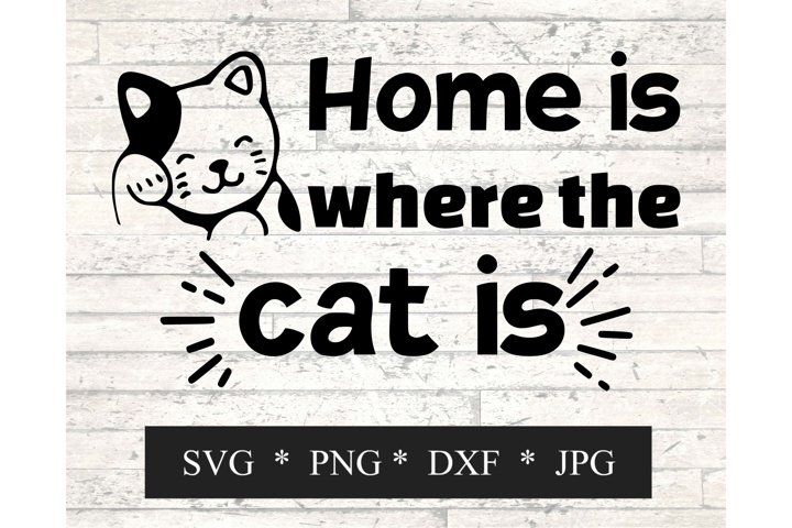 Home is where the cat is SVG