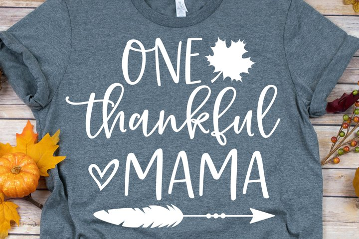 One Thankful Mama SVG, DXF, PNG, EPS