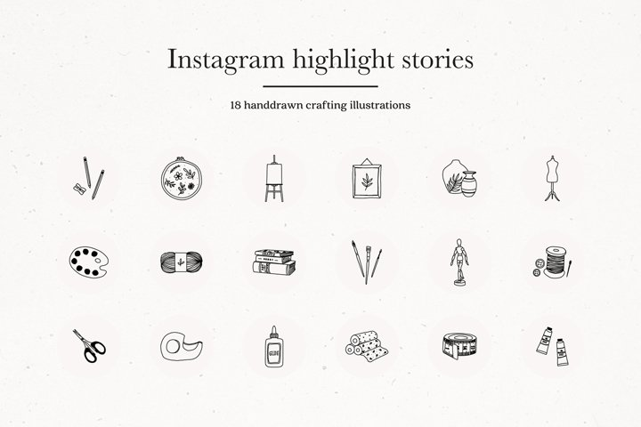 Instagram Craft Highlights Icons | Instagram Story Covers