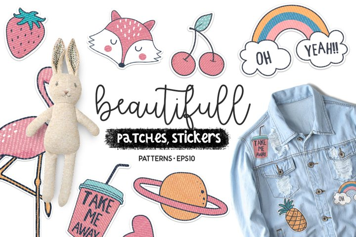 Beautiful patches, sticker
