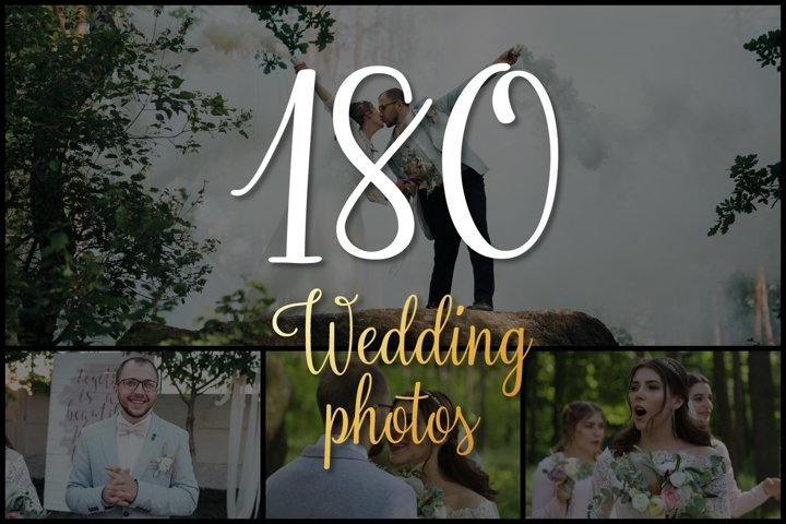 Set of 180 wedding photos
