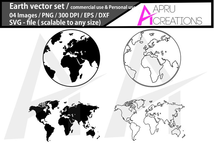 Earth svg/ Earth silhouette/ globe svg