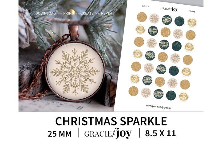 Christmas Sparkle 25 mm digital collage sheet