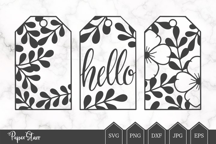 Gift Tag Cut File, Gift Tag SVG, Floral Gift Tag