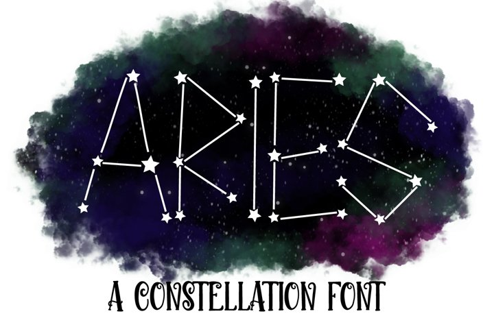 Aries - A Constellation Making Font