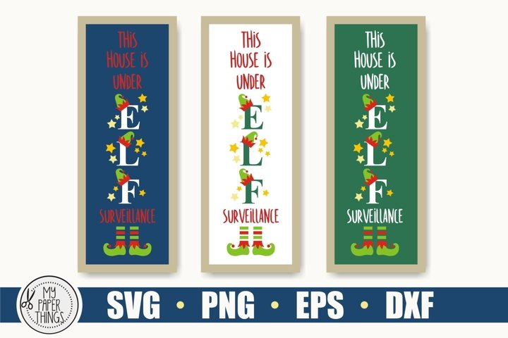 Christmas porch sign SVG cut file for crafter, Elf svg