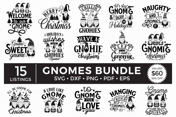 Gnomes SVG Bundle, Christmas Gnome SVG, Gnome Quotes SVG