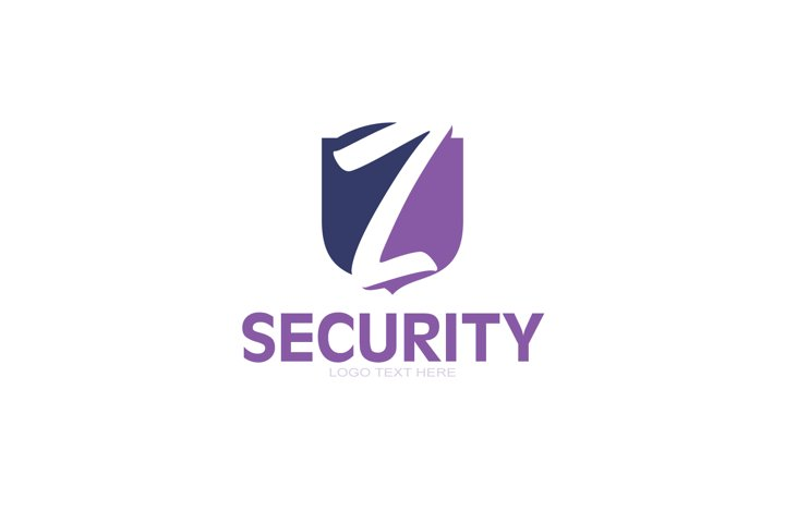 Z Letter Logo In Shield, Safety and Protection logo