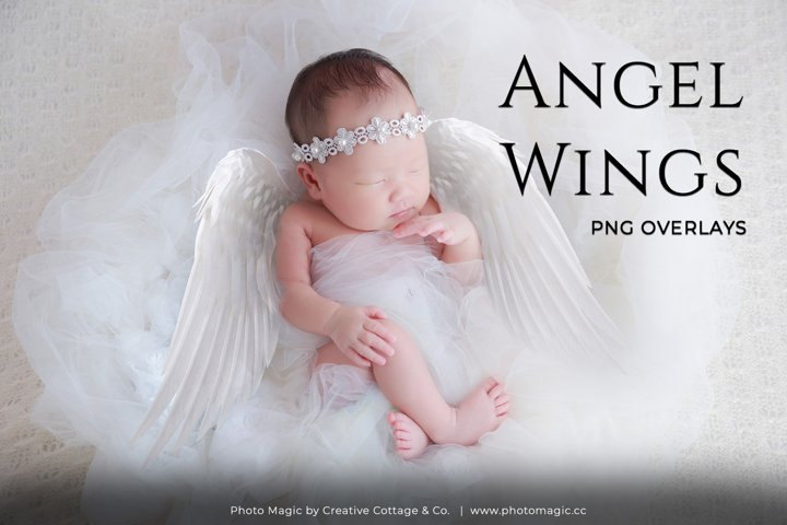 Fantasy Angel Wings Photo Overlays