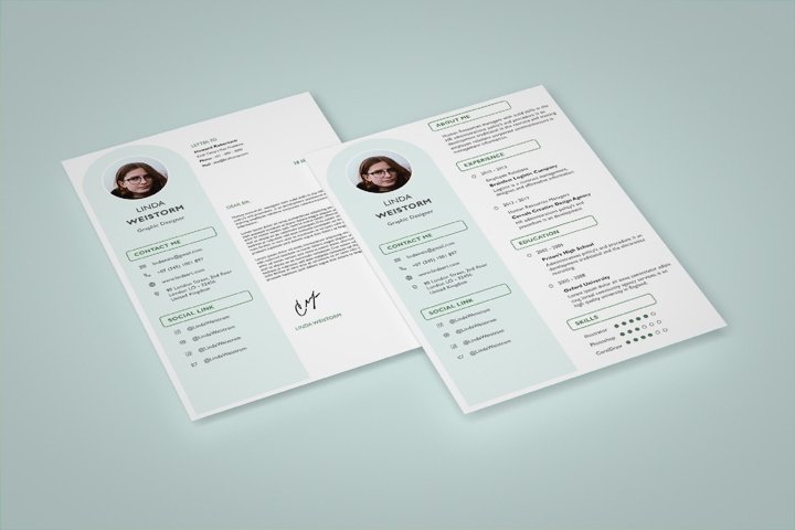Modern and Minimalist Resume Template CV Vol.2