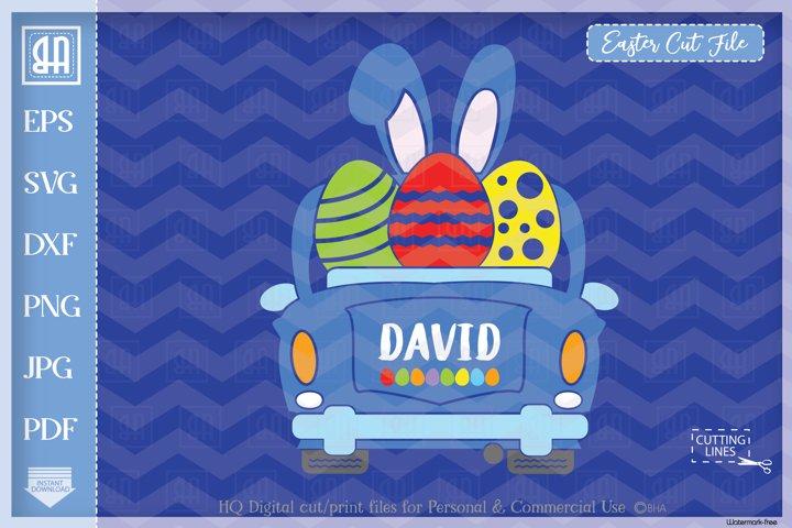 Easter car svg - Vintage car svg - Boy Easter clipart