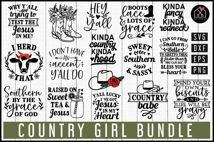 Farmhouse | Country Girl SVG Bundle | MB71