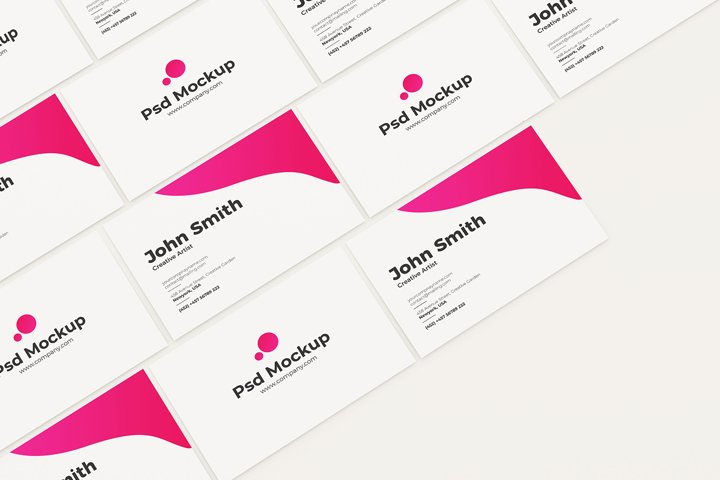 Top Minimal Business Cards Mockup