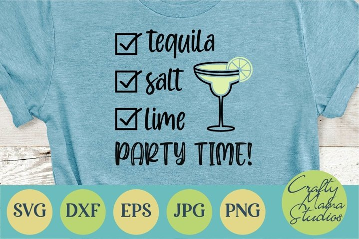 Tequila Salt Lime Party Time Svg, Summer Svg, Beach Svg