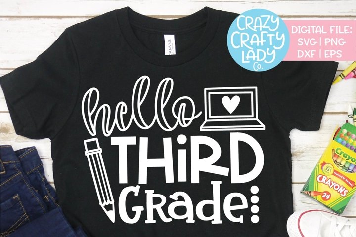 Hello Third Grade SVG DXF EPS PNG Cut File