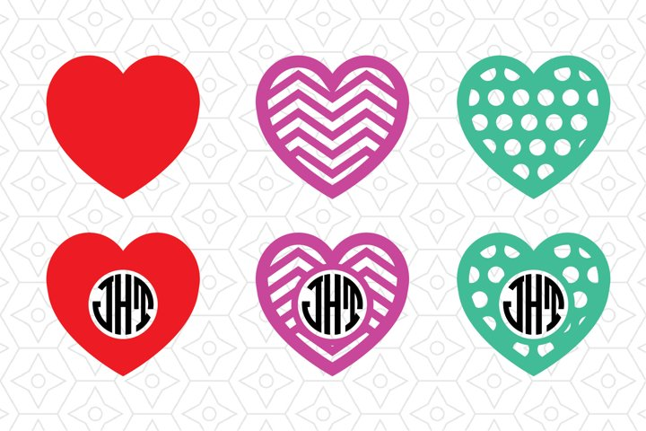 Valentines Heart Monogram Frame Collection