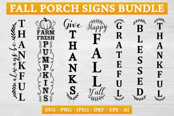 Fall Porch Sign SVG Bundle