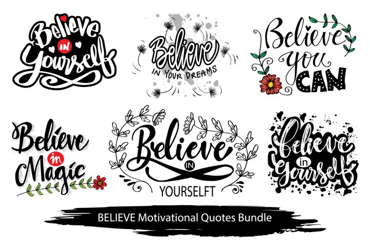 Believe motivational quotes bundle